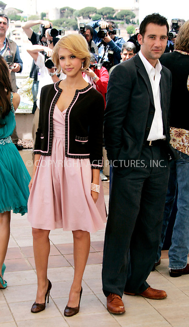 WWW.ACEPIXS.COM . . . . .  ... . . . . US SALES ONLY . . . . .....CANNES, MAY 18, 2005....Jessica Alba and Clive Owen at a photocall for 'Sin City' during the Cannes Film Festival.....Please byline: FAMOUS-ACE PICTURES-H. BOESL... . . . .  ....Ace Pictures, Inc:  ..Craig Ashby (212) 243-8787..e-mail: picturedesk@acepixs.com..web: http://www.acepixs.com