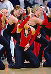 The University of Wisconsin Dance Team performs at halftime during the Penn State vs. Wisconsin game on 1/27/01. (Photo by David Stluka)