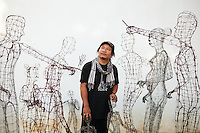 Aug. 14, 2012 - Battambang, Cambodia. Artist Tor Vutha in his home. © Nicolas Axelrod / Ruom