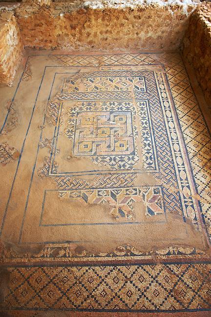 Mosaics in the Roman Villa In Skala. Kefalonia, Ionian Islands, Greece.