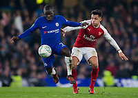 Arsenal's Alexis Sanchez battles for possession with Chelsea's Ngolo Kante <br /> <br /> Photographer Craig Mercer/CameraSport<br /> <br /> The Carabao Cup - Semi-Final 1st Leg - Chelsea v Arsenal - Wednesday 10th January 2018 - Stamford Bridge - London<br />  <br /> World Copyright &copy; 2018 CameraSport. All rights reserved. 43 Linden Ave. Countesthorpe. Leicester. England. LE8 5PG - Tel: +44 (0) 116 277 4147 - admin@camerasport.com - www.camerasport.com
