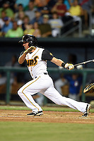 Jacksonville Suns Austin Barnes (16) at bat during game three of the Southern League Championship Series against the Chattanooga Lookouts on September 12, 2014 at Bragan Field in Jacksonville, Florida.  Jacksonville defeated Chattanooga 6-1 to sweep three games to none.  (Mike Janes/Four Seam Images)