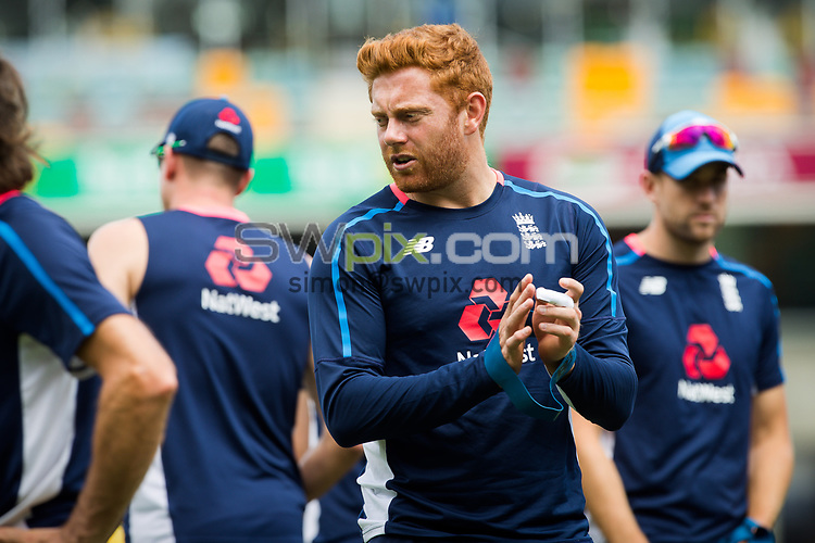 Ashes Preview - Jonny Bairstow at the Gabba Cricket Ground, Brisbane, Australia. 22 Nov 2017. Copyright photo: Patrick Hamilton / www.photosport.nz MANDATORY CREDIT/BYLINE : Patrick Hamilton/SWpix.com/PhotosportNZ