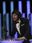 "Javier Pereira gives a speech after winning the Goya award for best revelation actor for the film ""Stockholm"" at the Goya Film Awards ceremony in Madrid on February 9, 2014. Photo by Ivan Espinola/ DyD FOTOGRAFOS-DYDPPA"
