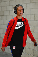 Carson, CA - Thursday August 03, 2017: Carli Lloyd prior to a 2017 Tournament of Nations match between the women's national teams of the United States (USA) and Japan (JPN) at the StubHub Center.