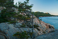 A view from the top of Otter Cliffs looking towards the Beehive and Gorham Mt in Acadia National Park in Maine