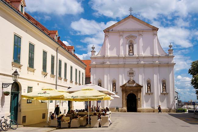 Baroque facade of the Jesuit  Crkva sv. Katarine [ Church St. Catherine ] Gradec ,  St , Zagreb, Croatia