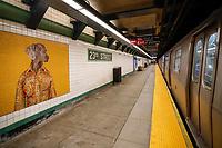 NEW YORK, EUA, 12.12.2018 - ARTE-NEW YORK - Vista da Estação de metro 23rd Street MTA Station que foi recem Renaugurada e agora aberta ao publico com com murais do cao Weimaraners famoso artista William Wegman, não centro de Nova York. (Foto: Vanessa Carvalho/Brazil Photo Press)