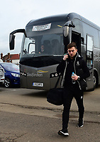 Lincoln City's Lee Frecklington arrives at the ground<br /> <br /> Photographer Andrew Vaughan/CameraSport<br /> <br /> The EFL Sky Bet League Two - Cambridge United v Lincoln City - Saturday 29th December 2018  - Abbey Stadium - Cambridge<br /> <br /> World Copyright © 2018 CameraSport. All rights reserved. 43 Linden Ave. Countesthorpe. Leicester. England. LE8 5PG - Tel: +44 (0) 116 277 4147 - admin@camerasport.com - www.camerasport.com