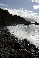 Rugged coastline, Playa del Piloto, El Hierro, Canary Islands.