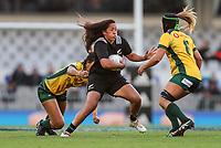 Aroha Savage in action during the international women's rugby match between the New Zealand Black Ferns and Australia Wallaroos at Eden Park in Auckland, New Zealand on Saturday 25 August 2018. Photo: Simon Watts / lintottphoto.co.nz