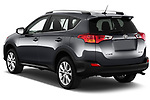 Car pictures of rear three quarter view of a 2013 Toyota rav4 limited Select Doors Door SUV angular rear
