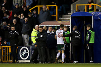 Joe Williams of Barnsley heads to the dressing room after being sent off during Millwall vs Barnsley, Emirates FA Cup Football at The Den on 6th January 2018