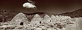 USA, California, Death Valley National Park, charcoal kilns (B&W)