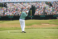 Bill Haas (USA) tees off the par3 9th tee during Saturday's Round 3 of the 117th U.S. Open Championship 2017 held at Erin Hills, Erin, Wisconsin, USA. 17th June 2017.<br /> Picture: Eoin Clarke | Golffile<br /> <br /> <br /> All photos usage must carry mandatory copyright credit (&copy; Golffile | Eoin Clarke)