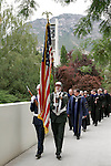 Commencement.August 11, 2005.Elder Richard G. Scott, President Cecil Samuelson, Bonnie Parkin, Carr Krueger, Sachiko Jensen (student speaker)..Photography by Mark A. Philbrick 0508-28 August Commencement..Summer Commencement, Processional, Graduates with families...Photo by Mark A. Philbrick/BYU..Copyright BYU Photo 2005.All Rights Reserved.photo@byu.edu  (801)422-7322