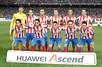 27.08.2012 SPAIN -  La Liga 12/13 Matchday 2th  match played between Atletico de Madrid vs Athletic Club de Bilbao (4-0) with hat-trick Radamel Falcao at Vicente Calderon stadium. The picture show Team Group Liune-up Atletico de Madrid