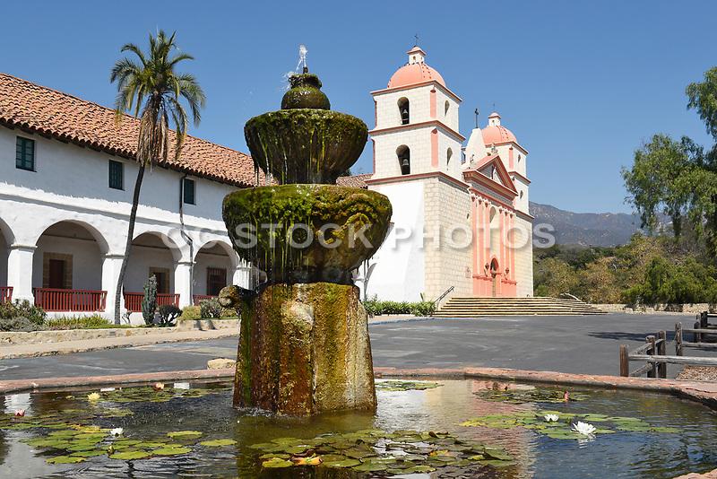Fountain at Santa Barbara Mission