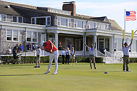 Defending Champion Brooks Koepka (USA) tees off the 14th tee during Saturday's Round 3 of the 118th U.S. Open Championship 2018, held at Shinnecock Hills Club, Southampton, New Jersey, USA. 16th June 2018.<br /> Picture: Eoin Clarke | Golffile<br /> <br /> <br /> All photos usage must carry mandatory copyright credit (&copy; Golffile | Eoin Clarke)