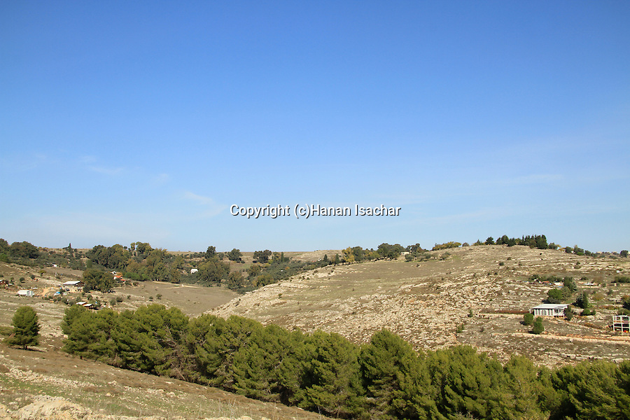 Israel, Upper Galilee, a view of Kadita from Meron-Biriya forest scenic road