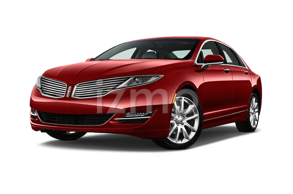 Stock pictures of low aggressive front three quarter view of 2016 Lincoln MKZ - 4 Door Sedan Low Aggressive