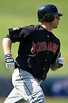 Indianapolis Indians right fielder Adam Boeve rounds first base in game action versus the Charlotte Knights at Knights Stadium in Fort Mill, SC, Sunday, August 13, 2006.