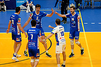 GRONINGEN - Volleybal, Abiant Lycurgus - Orion, Alfa College , Eredivisie , seizoen 2017-2018, 16-12-2017 vreugde bij Lycurgus