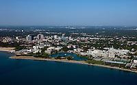 aerial photograph Northwestern University Evantson, Illinois