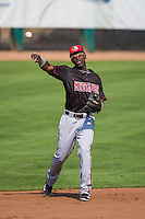 Hector Vargas (27) of the Billings Mustangs during the game against the Ogden Raptors in Pioneer League action at Lindquist Field on August 16, 2015 in Ogden, Utah.Billings defeated Ogden 6-3.  (Stephen Smith/Four Seam Images)