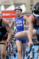 01 SEP 2007 - HAMBURG, GER - Irina Abysova (RUS) - Elite Womens World Triathlon Championships. (PHOTO (C) NIGEL FARROW)