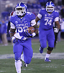 Freshman running back Dyshawn Mobley runs down the field during the second half of the UK vs Samford at Commonwealth Stadium in Lexington, Ky., on Saturday, November 17th, 2012. Photo by Logan Douglas | Staff.