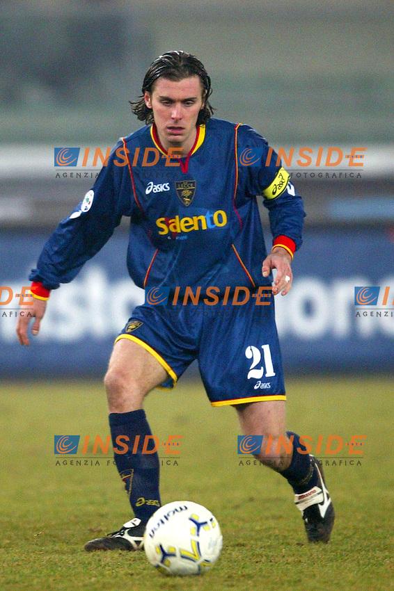 Verona 7/2/2004<br /> CHIEVO LECCE 2-3<br /> Lorenzo Stovini (Lecce)<br /> Foto Andrea Staccioli Insidefoto