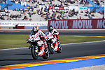 VALENCIA, SPAIN - NOVEMBER 11: Danilo Petrucci, Scott Redding during Valencia MotoGP 2016 at Ricardo Tormo Circuit on November 11, 2016 in Valencia, Spain