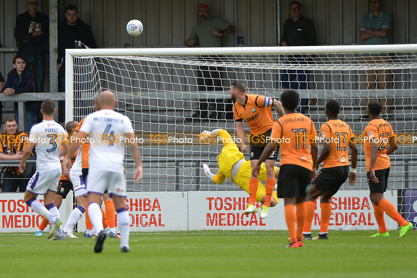Jamie Stephens of Barnet saves during Barnet vs Luton Town, Sky Bet EFL League 2 Football at the Hive Stadium on 12th August 2017