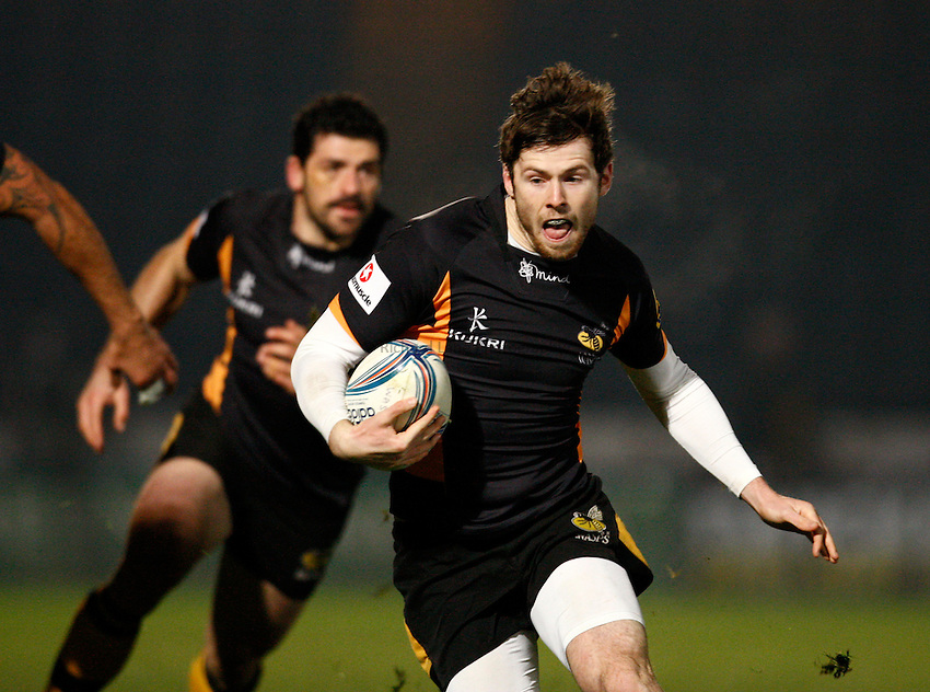 Photo: Richard Lane/Richard Lane Photography. London Wasps v Aviron Bayonne. Amlin Challenge Cup. 13/12/2012. Wasps' Elliot Daly.