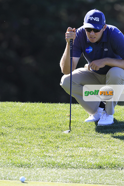 Seamus Power (IRL) at the 11th green at Pebble Beach course during Friday's Round 2 of the 2018 AT&amp;T Pebble Beach Pro-Am, held over 3 courses Pebble Beach, Spyglass Hill and Monterey, California, USA. 9th February 2018.<br /> Picture: Eoin Clarke | Golffile<br /> <br /> <br /> All photos usage must carry mandatory copyright credit (&copy; Golffile | Eoin Clarke)
