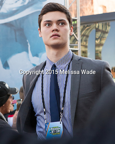 Dillon Lawrence (BU - 14) - The teams walked the red carpet through the Fan Fest outside TD Garden prior to the Frozen Four final on Saturday, April 11, 2015, in Boston, Massachusetts.