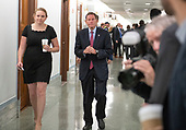 United States Senator Richard Blumenthal (Democrat of Connecticut) arrives to hear the testimony of Dr. Christine Blasey Ford  before the US Senate Committee on the Judiciary on the nomination of Judge Brett Kavanaugh to be Associate Justice of the US Supreme Court to replace the retiring Justice Anthony Kennedy on Capitol Hill in Washington, DC on Thursday, September 27, 2018.<br /> Credit: Ron Sachs / CNP<br /> (RESTRICTION: NO New York or New Jersey Newspapers or newspapers within a 75 mile radius of New York City)