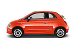 Car Driver side profile view of a 2016 Fiat 500-C Lounge 2 Door Convertible Side View