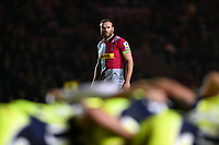 Jamie Roberts of Harlequins watches a scrum. Aviva Premiership match, between Harlequins and Sale Sharks on October 6, 2017 at the Twickenham Stoop in London, England. Photo by: Patrick Khachfe / JMP