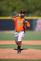 San Francisco Giants pitcher Wilson Santos (76) during an Instructional League game against the Los Angeles Angels of Anaheim on October 13, 2016 at the Tempe Diablo Stadium Complex in Tempe, Arizona.  (Mike Janes/Four Seam Images)