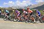 The peloton on the Cat 2 climb to Puerto de Confrides during Stage 2 of La Vuelta 2019 running 199.6km from Benidorm to Calpe, Spain. 25th August 2019.<br /> Picture: Ann Clarke | Cyclefile<br /> <br /> All photos usage must carry mandatory copyright credit (© Cyclefile | Ann Clarke)