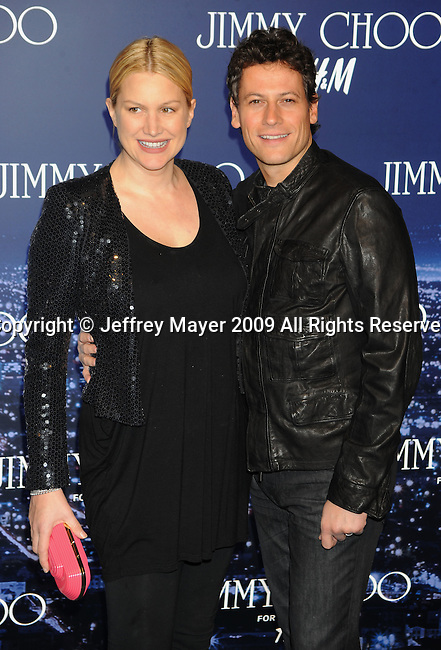 WEST HOLLYWOOD, CA. - November 02: Ioan Gruffudd (R) and Alice Evans arrive at Jimmy Choo For H&M at a private residence on November 2, 2009 in West Hollywood, California..Headline: .