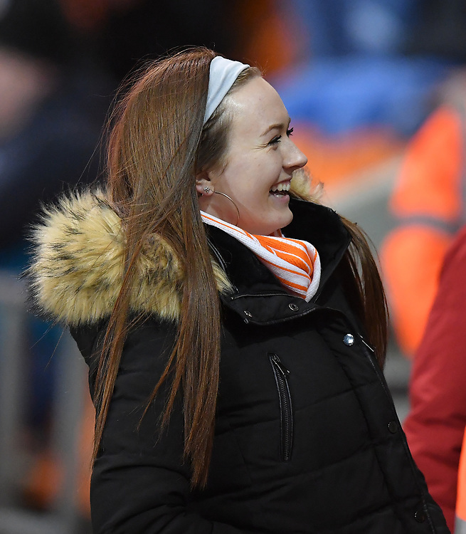 Fan<br /> <br /> Photographer Dave Howarth/CameraSport<br /> <br /> The EFL Sky Bet League One - Blackpool v Doncaster Rovers - Tuesday 12th March 2019 - Bloomfield Road - Blackpool<br /> <br /> World Copyright © 2019 CameraSport. All rights reserved. 43 Linden Ave. Countesthorpe. Leicester. England. LE8 5PG - Tel: +44 (0) 116 277 4147 - admin@camerasport.com - www.camerasport.com
