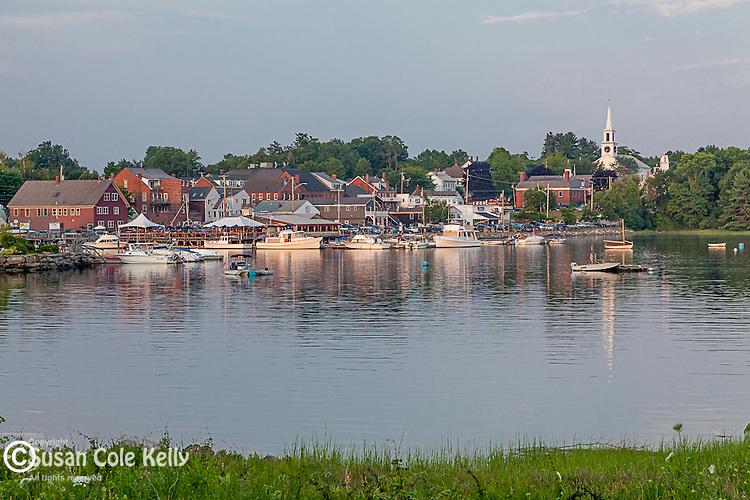 Historic Damariscotta and the Sheepscot River in Damariscotta, Maine, USA
