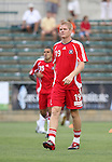15 July 2007: Chicago's Jeff Curtin.  The United Soccer League Division 1 Carolina Railhawks defeated Major League Soccer's Chicago Fire 1-0 in a Third Round Lamar Hunt U.S. Open Cup game at SAS Stadium in Cary, North Carolina.
