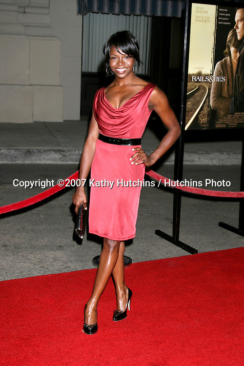"Telisha Shaw.""Rails & Ties"" Premiere.Stephen J. Ross Theater.Warner Brothers Lot.Burbank,  CA.October 23, 2007.©2007 Kathy Hutchins / Hutchins Photo...               ."
