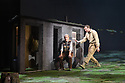 """The National Theatre of Great Britain presents """"Peter Gynt"""", by David Hare, directed by Jonathan Kent, at the Festival Theatre, as part of the Edinburgh International Festival. Picture shows: Ann Louise Ross (Agatha), James McArdle (Peter Gynt)."""