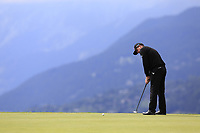 Scott Hend (AUS) takes his putt on the 7th green during Sunday's Final Round of the 2017 Omega European Masters held at Golf Club Crans-Sur-Sierre, Crans Montana, Switzerland. 10th September 2017.<br /> Picture: Eoin Clarke | Golffile<br /> <br /> <br /> All photos usage must carry mandatory copyright credit (&copy; Golffile | Eoin Clarke)
