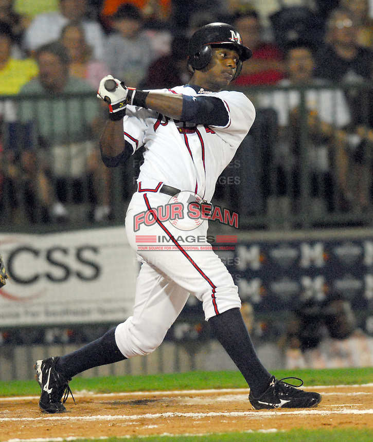 09 July 2007: Brandon Jones from the 2007 Southern League All-Star Game sponsored by the Mississippi Braves, the Atlanta Braves' Class AA affiliate in Pearl, Miss.